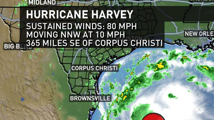 Map of Hurricane Harvey